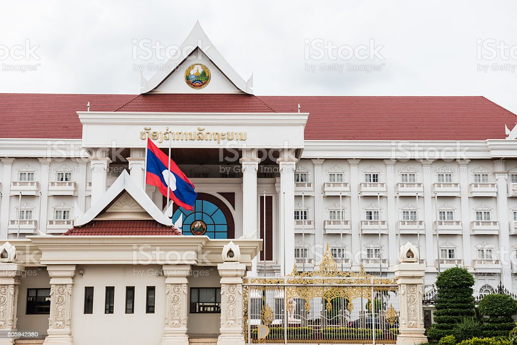 Laos Government Building stock photo