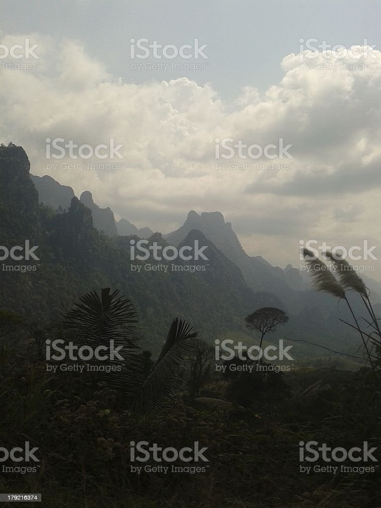 Laos Landscape stock photo