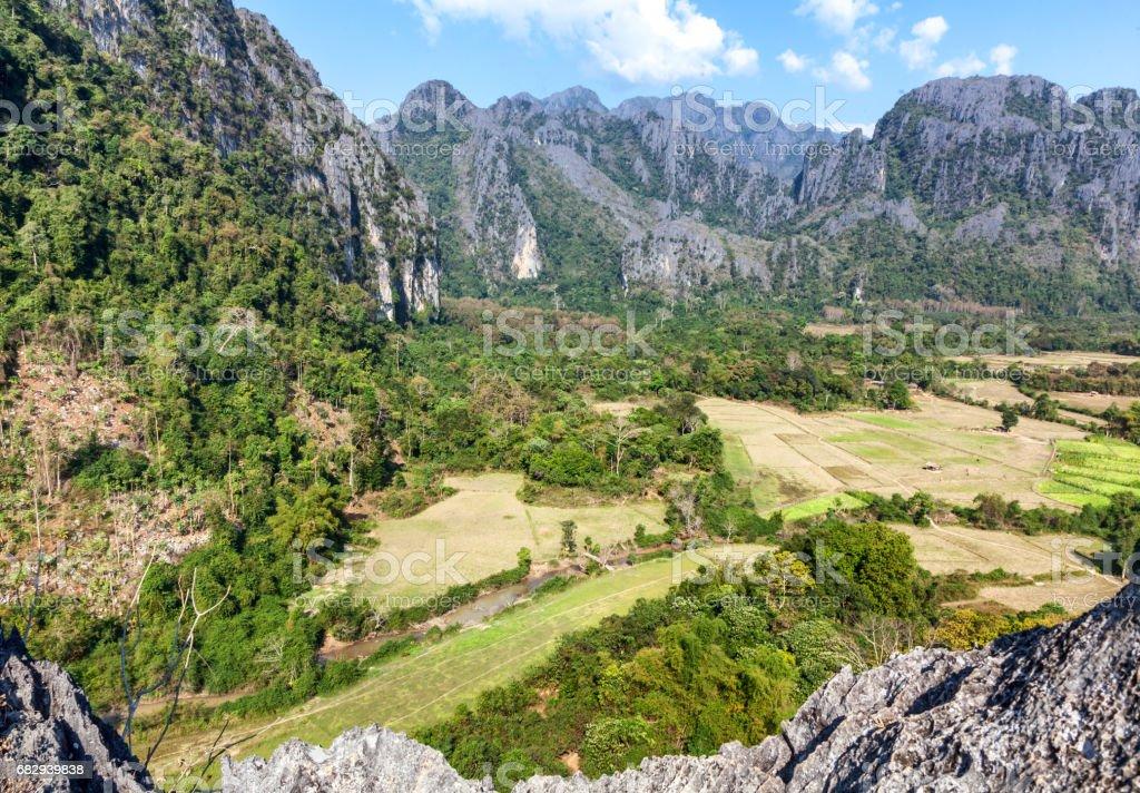 Laos, Southeast Asia, the neighborhood Vang Vieng royalty-free stock photo
