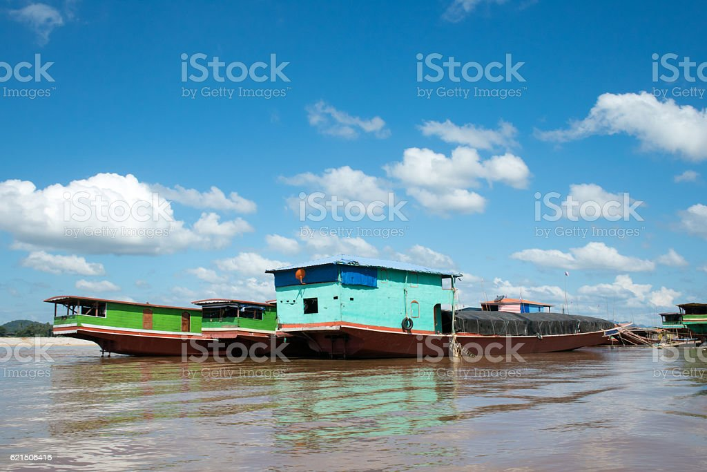 Laos transportation park in Ton Phung Dock in Laos foto stock royalty-free