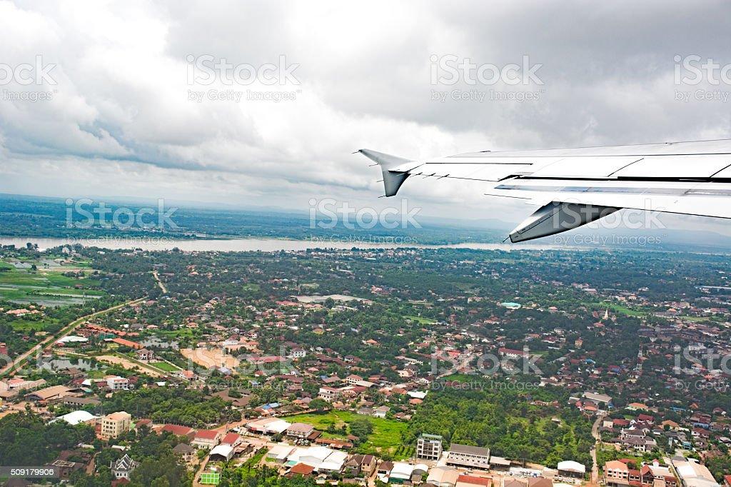 Laos Vientiane cityscape stock photo