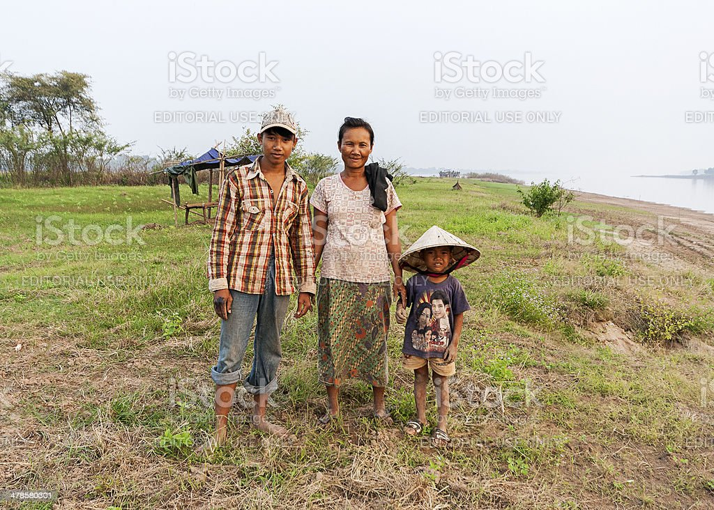 Laotian Family stock photo