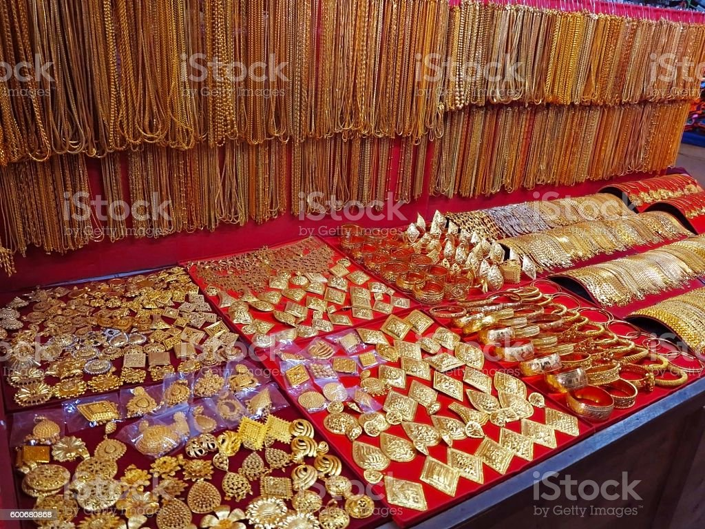 Laotian Faux Gold Jewelry Stock Photo More Pictures of Artificial