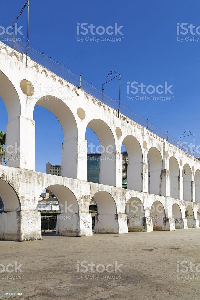 Lapa Arch in Rio de Janeiro, Brazil stock photo