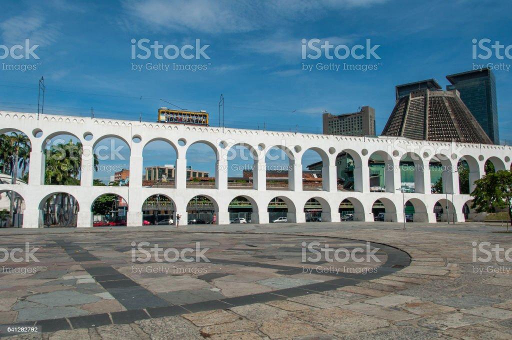 Lapa Arch e Rio de Janeiro, Brasil - foto de acervo