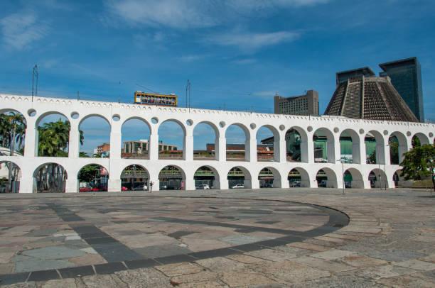 Lapa Arch, Rio de Janeiro, Brazil stock photo