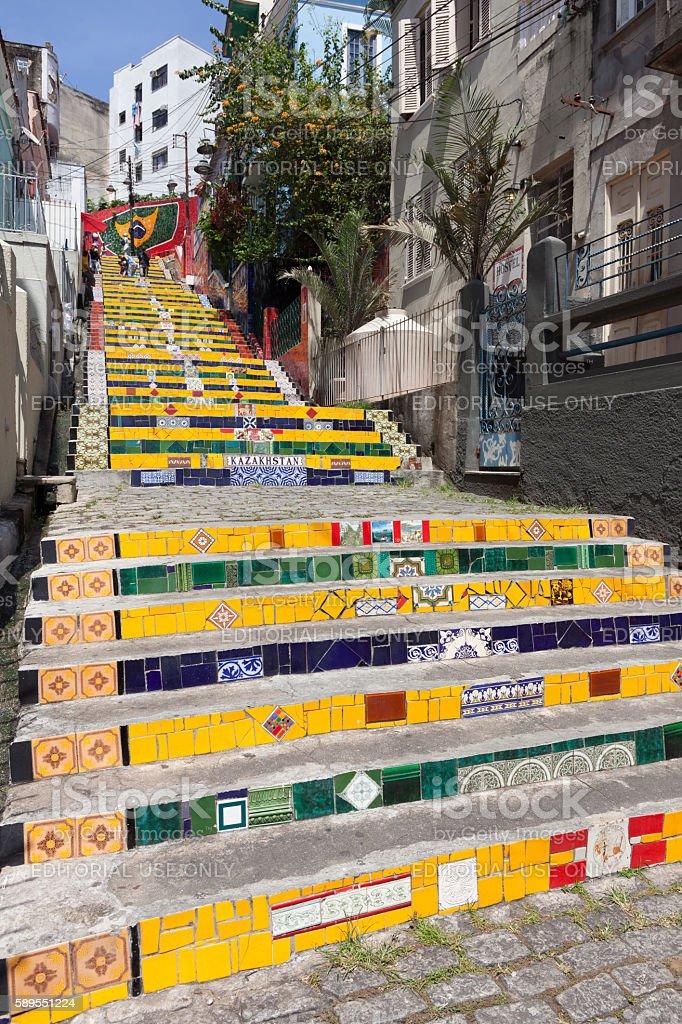 Lapa stairs Rio de Janeiro stock photo