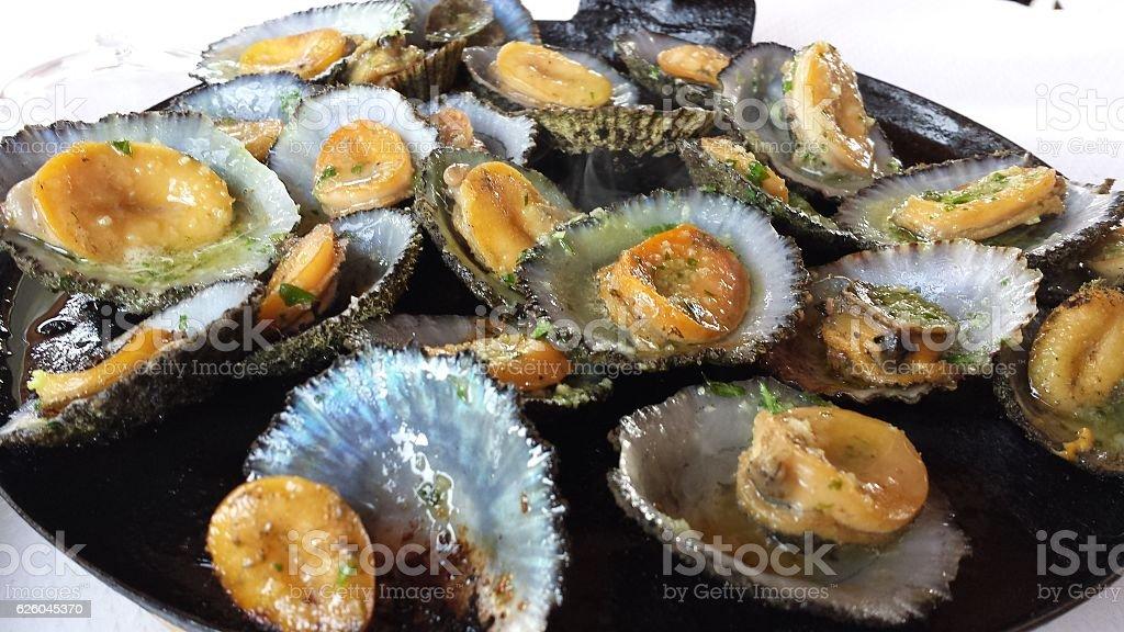 Lapas en Mojo verde / Seafood. stock photo