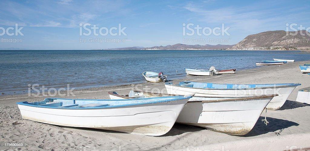 Lapaz BCS Fishing boats royalty-free stock photo