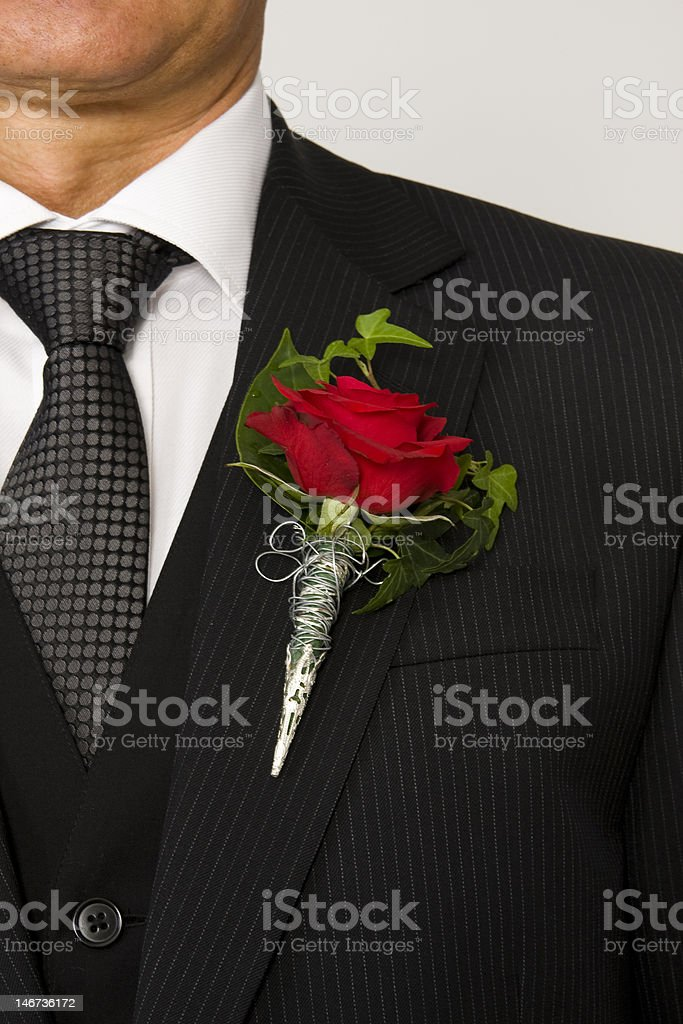 lapel flower royalty-free stock photo