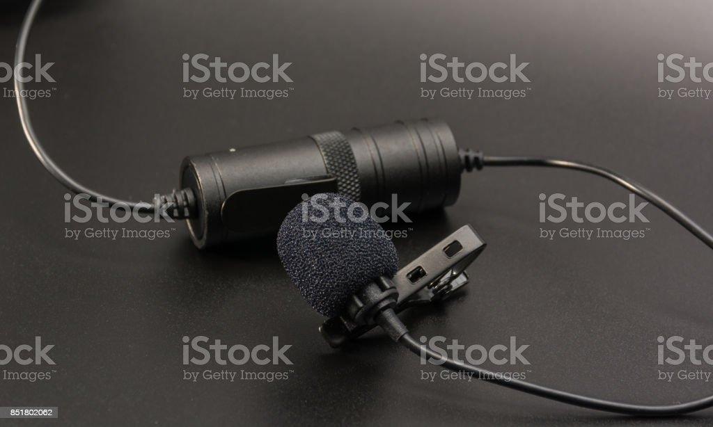 Lapel microphone stock photo