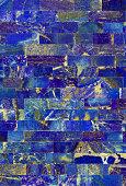 Lapis Lazuli tiled wall