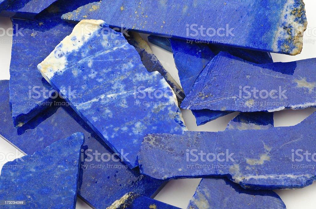 Lapiz Lazuli - half precious stone. guaranteed authentic royalty-free stock photo