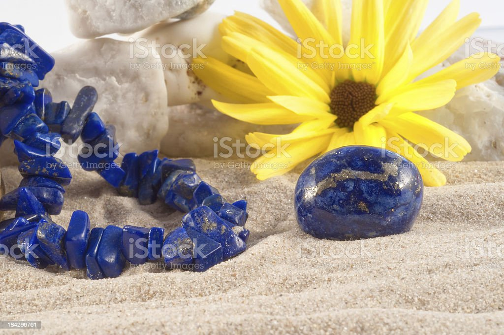 Lapiz Lazuli - half precious stone. guaranteed authentic stock photo