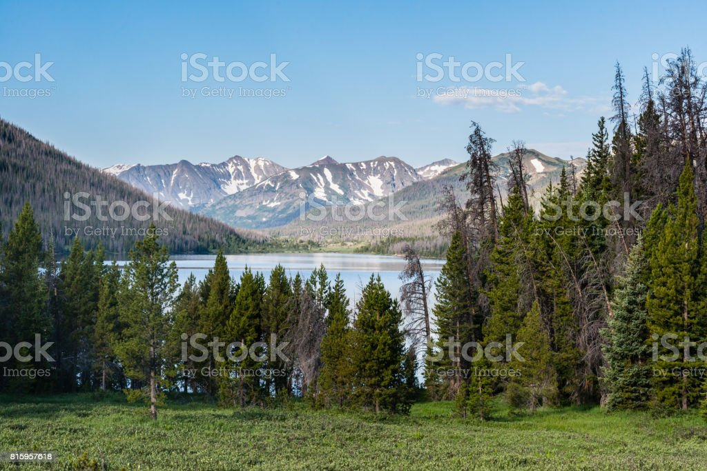 LaPoudre Pass in Northern Colorado stock photo