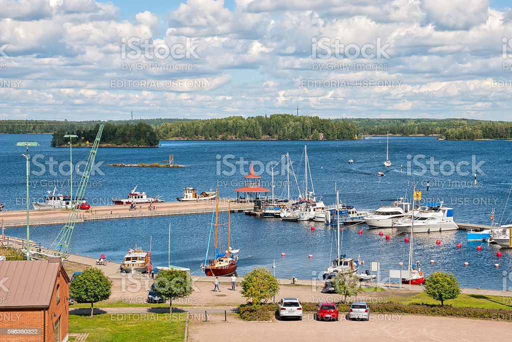 Lappeenranta, Finland. People near Saimaa Lake royalty-free stock photo