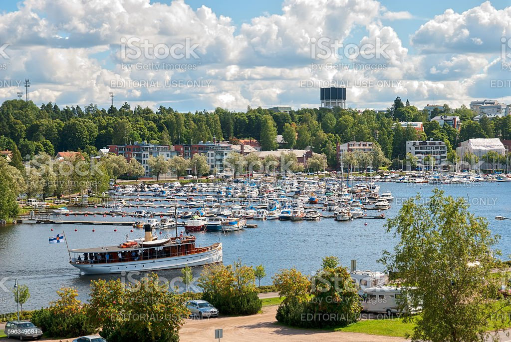 Lappeenranta, Finland. People on a boat royalty-free stock photo