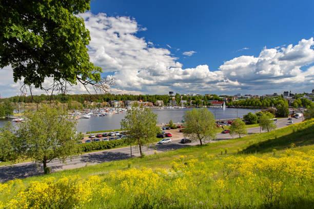 Lappeenranta, Finlandia - el centro de la ciudad, el lago - foto de stock