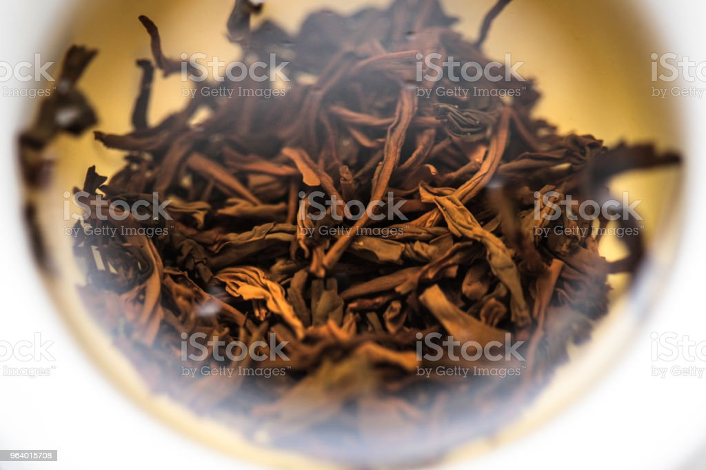 Lapsang souchong being steeped - Royalty-free Black Tea Stock Photo