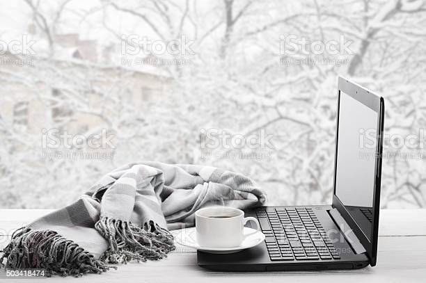 Laptop and coffee on winter window picture id503418474?b=1&k=6&m=503418474&s=612x612&h=bz0nz6 16vvdrethnptp xckvcymfyjtcqhjneanqyg=