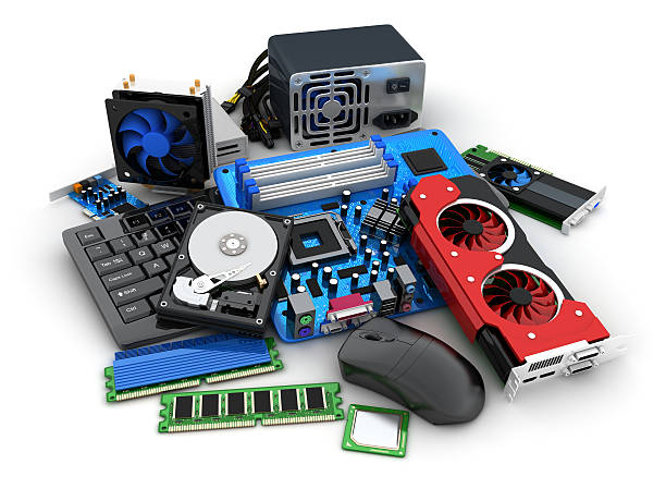 Laptop and computer parts ストックフォト