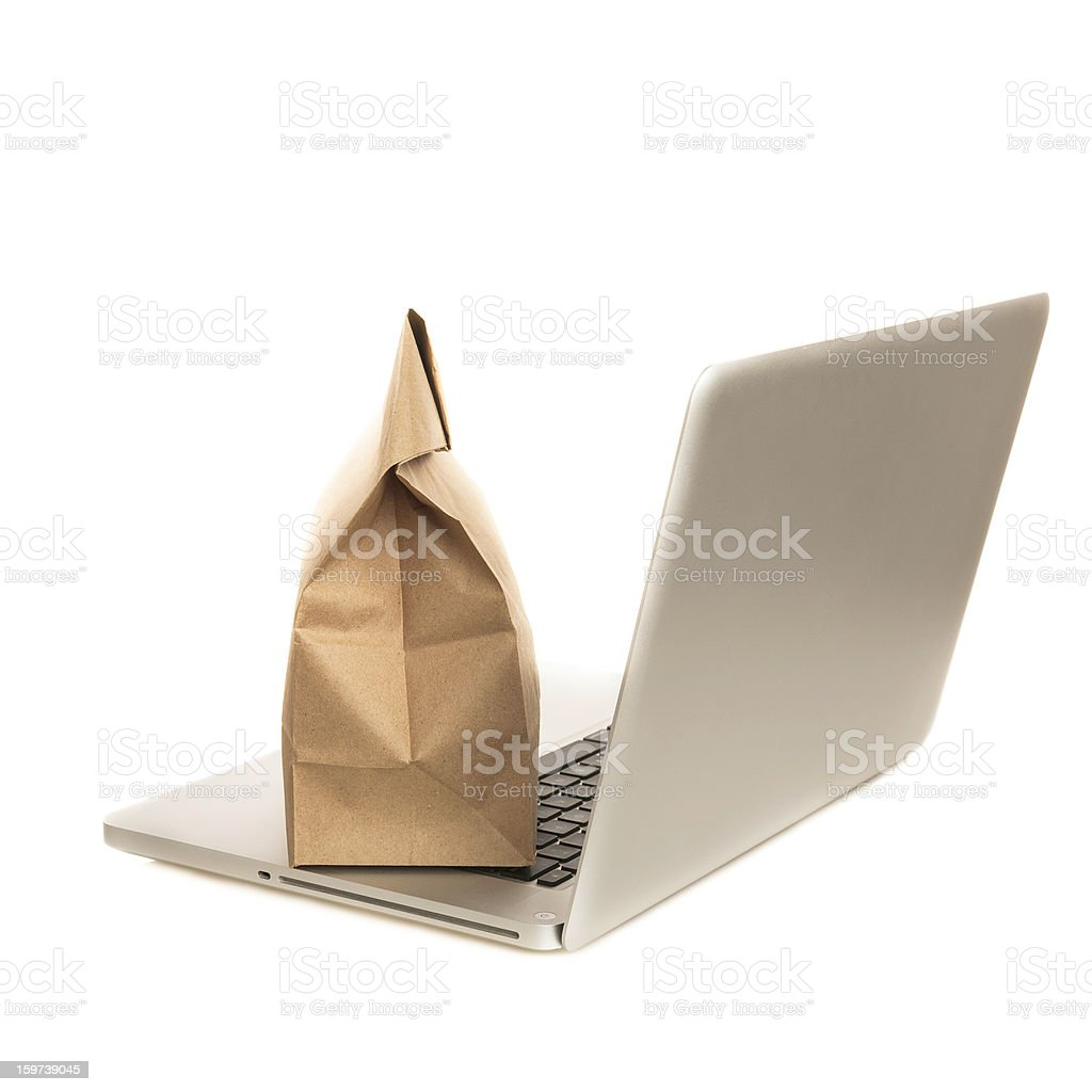 Laptop and e-commerce stock photo