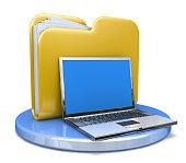 istock laptop and file folder 508253808