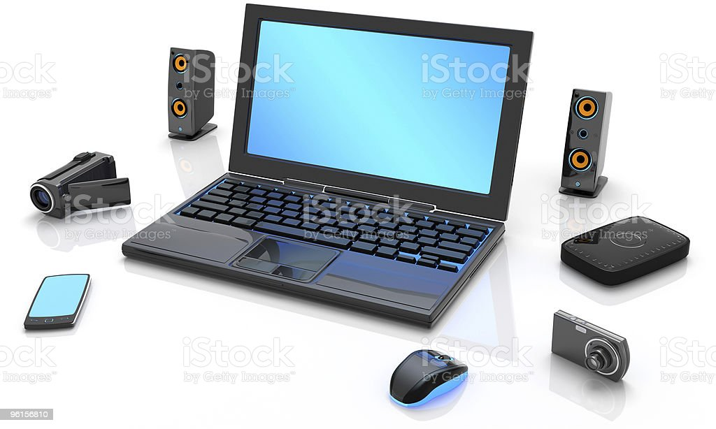 LapTop and Media stock photo