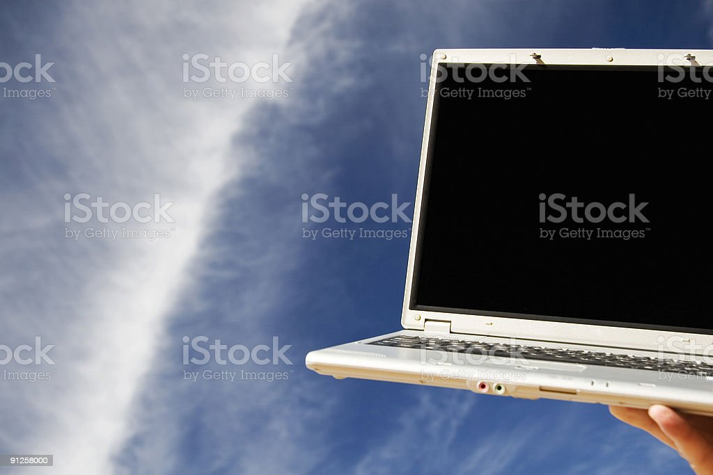 laptop and sky royalty-free stock photo
