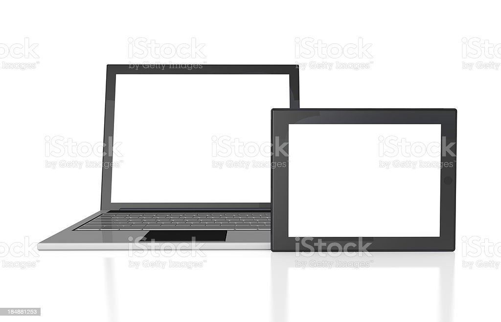 Laptop and Tablet PC royalty-free stock photo