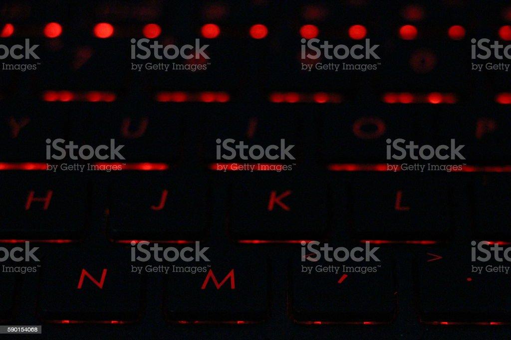 laptop backlight keyboard stock photo
