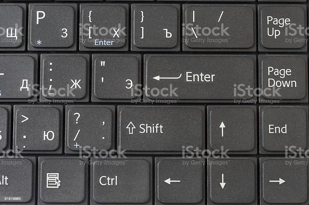 Laptop black keyboard royalty-free stock photo