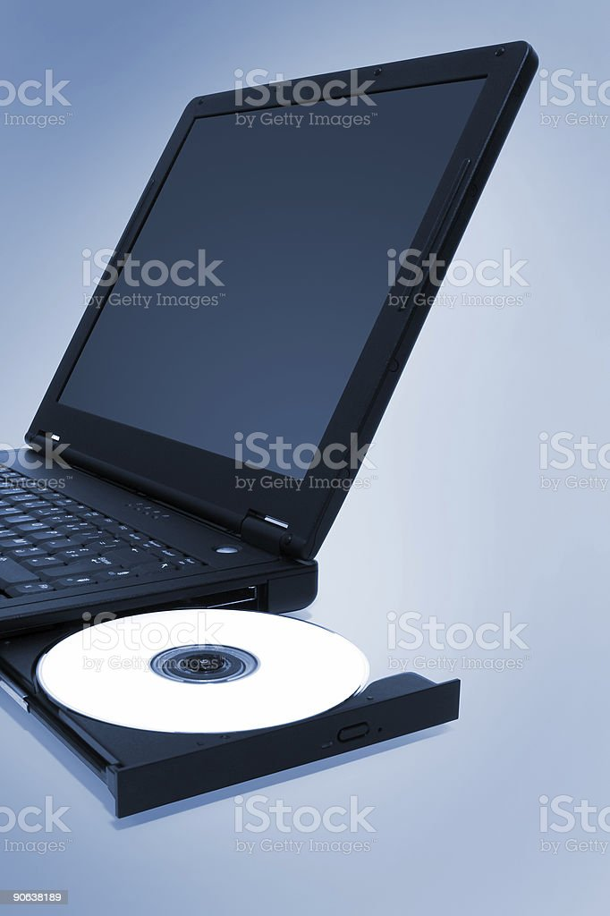 Laptop CD Tray (Cold) royalty-free stock photo