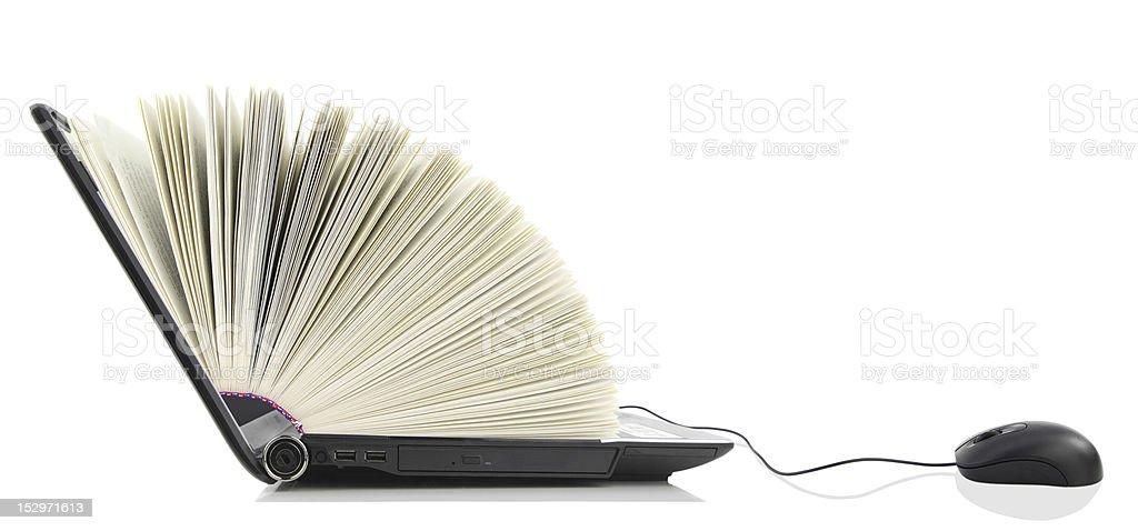 Laptop computer as a Book stock photo