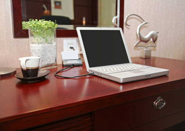 Laptop Computer On Table stock photo