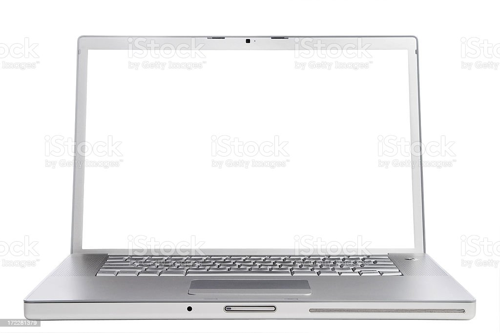 Laptop Computer Series ( CLIPPING PATH and white screen) royalty-free stock photo