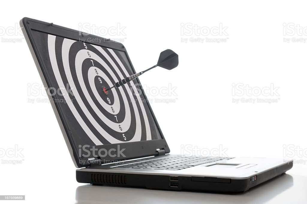Laptop Dart stock photo
