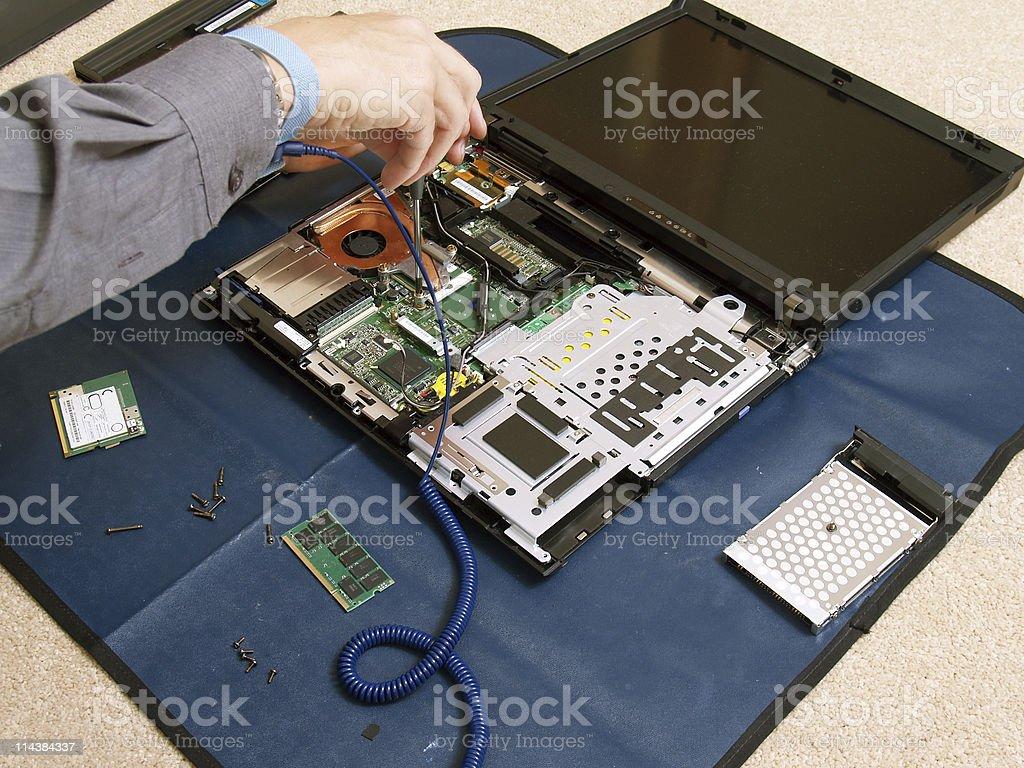 Laptop Disassembling royalty-free stock photo