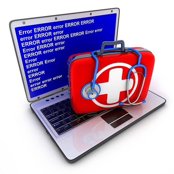 Laptop Fehler und Erste-Hilfe-kit – Foto