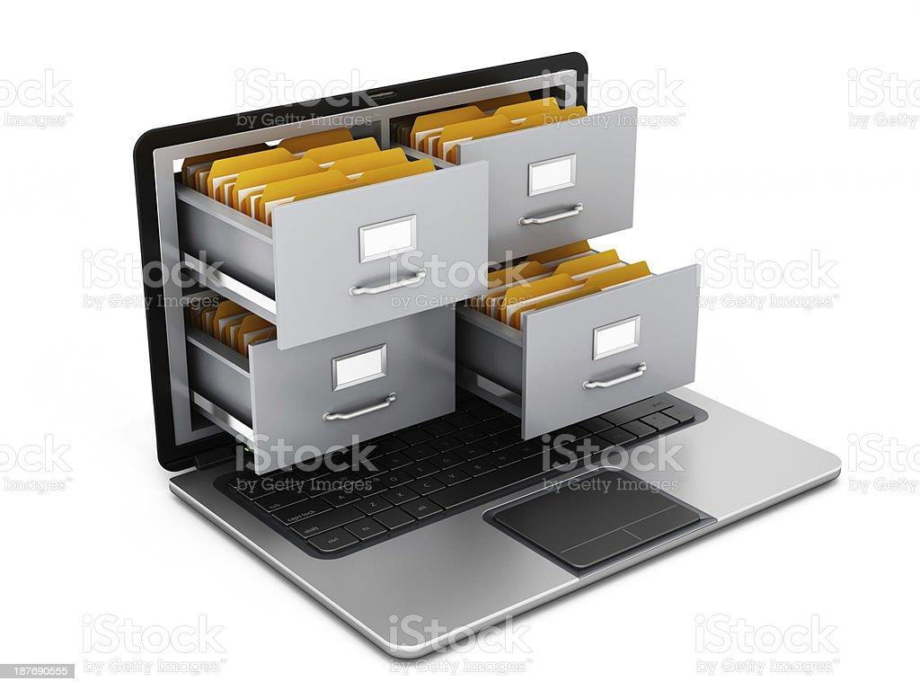 Portatile file cabinet - foto stock
