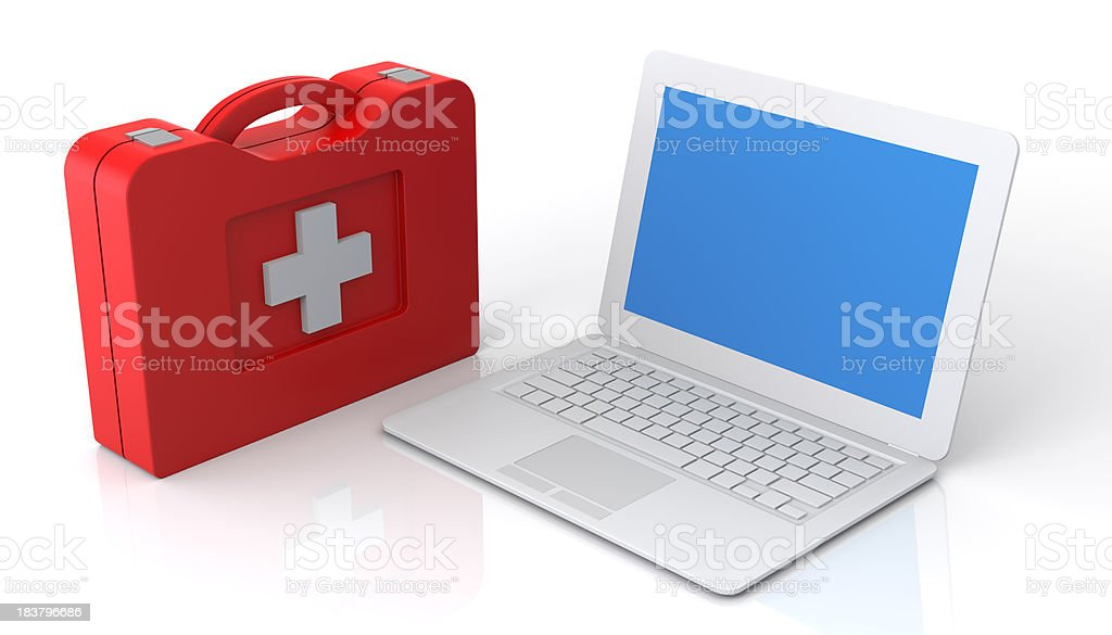 Laptop First Aid royalty-free stock photo