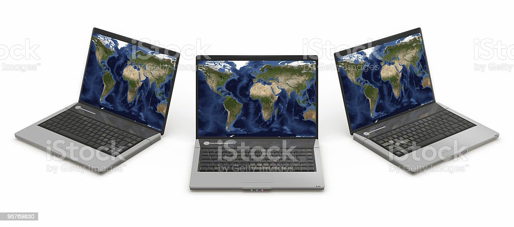 laptop group royalty-free stock photo