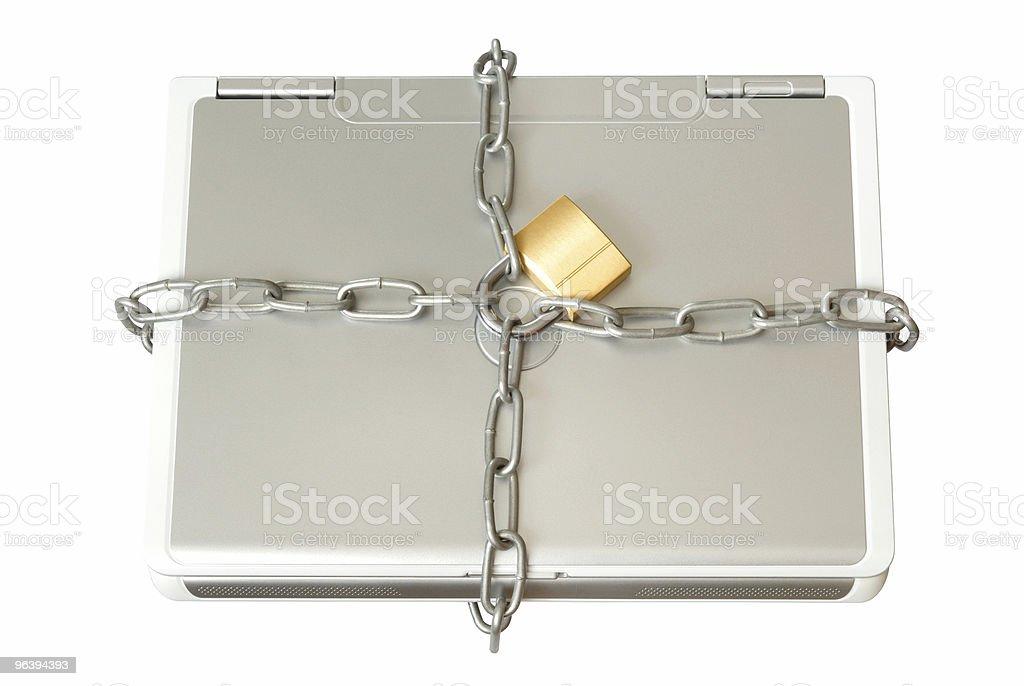 ノートパソコンのチェーン - アクセスしやすいのロイヤリティフリーストックフォト