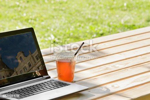 927814202istockphoto Laptop in outdoor 687101178