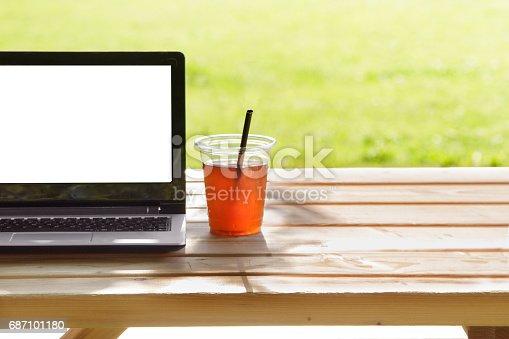 927814202istockphoto Laptop in outdoor 687101180