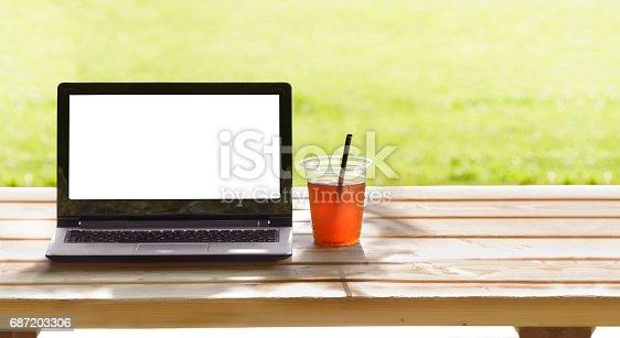 927814202istockphoto Laptop in outdoor 687203306