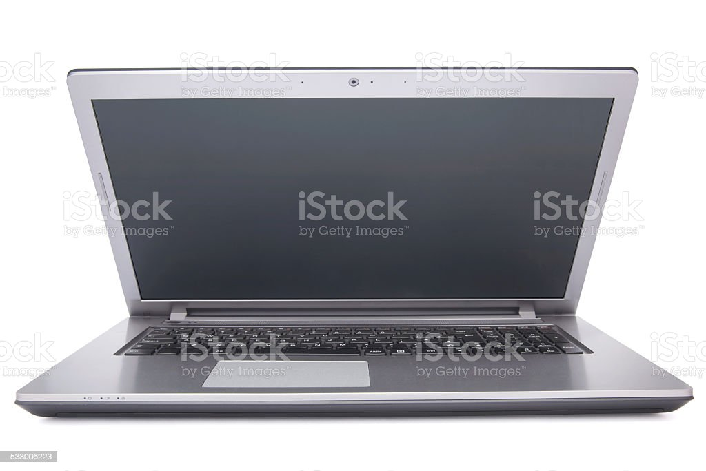 Laptop isolated on white background stock photo