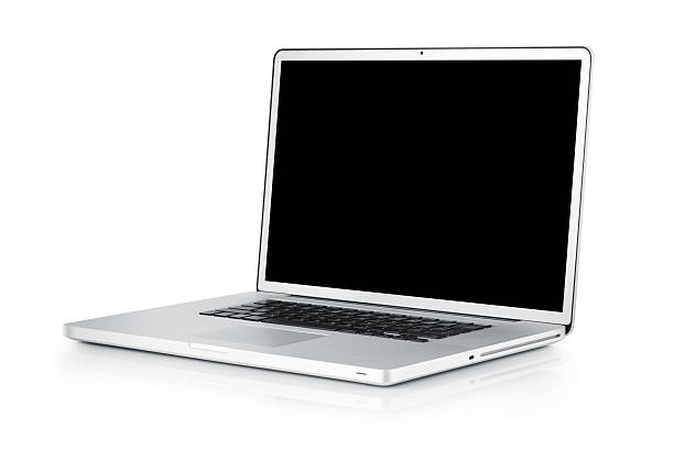 Laptop isolated on white;  with TS-E lens Laptop isolated on white. Shot with TS-E lens. Entire image is in focus. laptop white background stock pictures, royalty-free photos & images