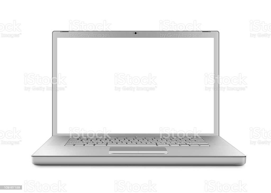 Laptop isolated - XL stock photo