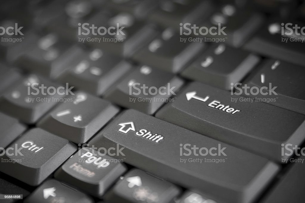 laptop keyboard close-up stock photo
